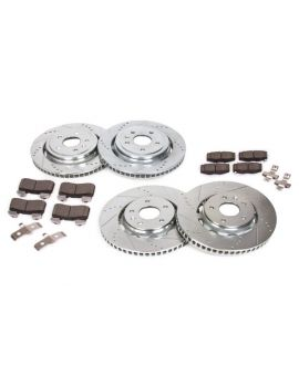 14-18 J55 (Z51) Power Stop Drilled & Slotted Rotors w/Z23 Brake Pads (OE Design)