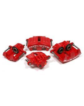 2005-2013 C6 Corvette Powder Coated Brake Caliper Set - Red