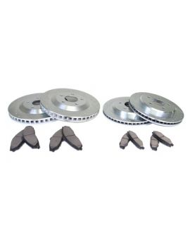 97-04 Power Stop Drilled & Slotted Rotors w/Z26 Warrior Brake Pads (Default)