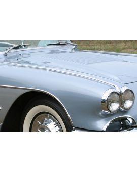 1958-1962 Corvette Front Fender Top Trim Moldings