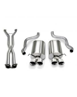 06-08 LS2/LS3 A6 Auto Corsa Sport Cat-Back Exhaust System - Quad 3.5in Polished Tips