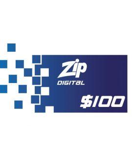$100 Zip Gift Card -Digital Version