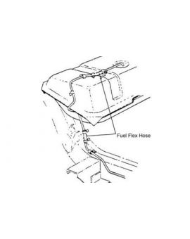 1957-1962 Corvette Gas Tank Sending Unit (Meter) to Fuel Line Hose Kit