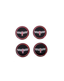 73-82 Aluminum Wheel Spinner Emblems - Victory Black
