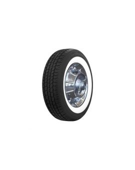 """56-61 205/75R15 American Classic Radial Tire - 2 1/2"""" White Wall"""