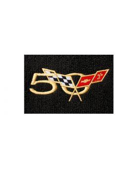 2003 Corvette TruVette Floor Mats W/50th Logo