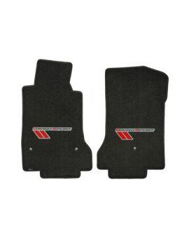 2010-2013E Corvette Lloyd Ultimat Floor Mats w/Grand Sport Logo (Red/Black)