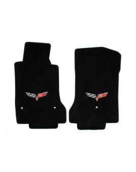 2007L-2013E Corvette Lloyd Velourtex Floor Mats w/C6 Emblem