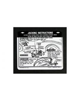 1968-1972 Corvette Jacking Instructions Decal