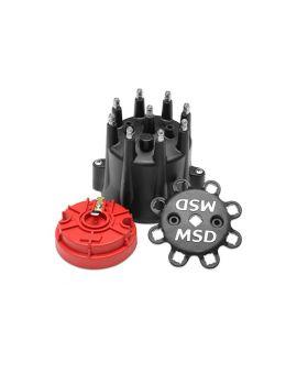 MSD Pro Billet Cap & Rotor Set (Black)