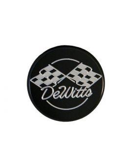 53-13 Dewitt's Billet Aluminum Black Powder Coated Radiator Cap - Round (Default)
