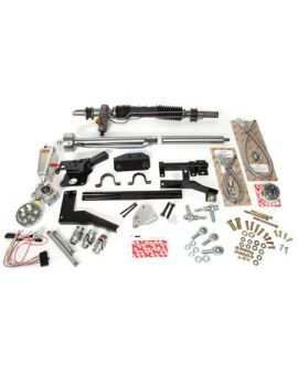 1953-1957 Corvette Steeroids Rack & Pinion Kit - Power (Chrome Column)