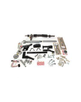 58-62 w/Headers Steeroids Rack & Pinion Kit - Power (Paintable Column)