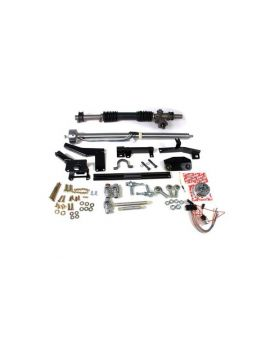 58-62 w/Headers Steeroids Rack & Pinion Kit - Manual (Black Column)