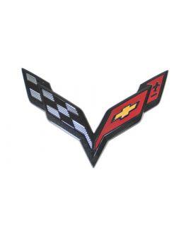 14-18 Rear Cross Flag Emblem (Carbon Flash)