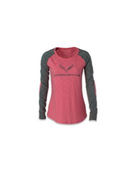 Ladies' C7 Corvette Long Sleeve Patch Tee