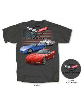 C5 Corvette American Heather Gray T-shirt