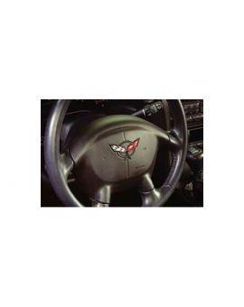 1997-2004 Corvette Steering Wheel Flags Decal