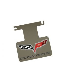 2005-2013 Corvette Rear Enhancement Plate w/Corvette Emblem (Polished)
