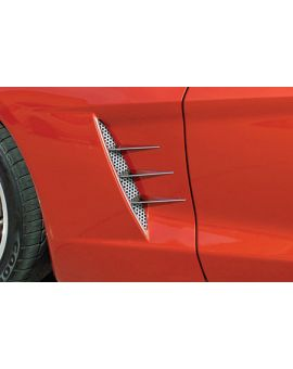 2005-2013 Corvette Stainless Side Spears w/Perforated Fender Grill Inserts