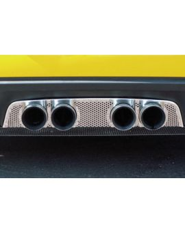 2006-2013 Corvette Z06 & NPP Perforated Stainless Exhaust Filler Panel