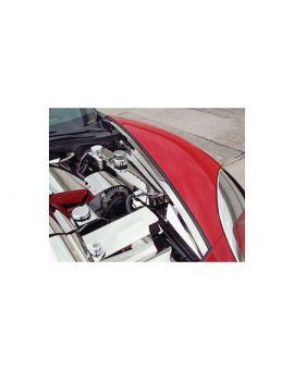 2005-2013 Corvette 8pc Inner Fender Liner Polished Stainless Set