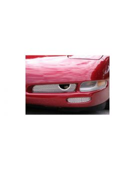 1997-2004 Corvette 2pc Perforated Stainless Fog Light Grilles