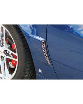 2006-2013 Corvette Z06/GS Laser Mesh Stainless Side Fender Rear Grills