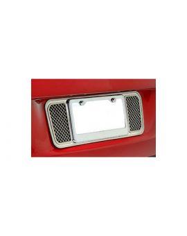2005-2013 Corvette Laser Mesh Stainless Rear License Plate Backplate