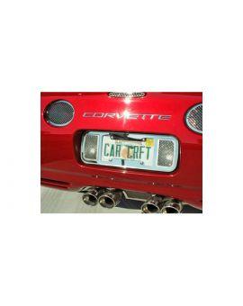 1997-2004 Corvette Laser Mesh Stainless Rear License Plate Frame