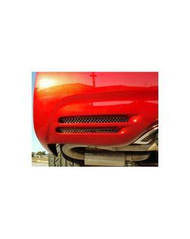 1997-2004 Corvette Laser Mesh Stainless Rear Bumper Grills