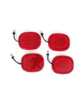 90-96 Max Red LED Tail Light Lens & Bulb Assembly Set