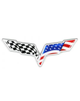 "2005-2013 Corvette C6 Emblem Flag ""3D Domed"" Overlay Kit"