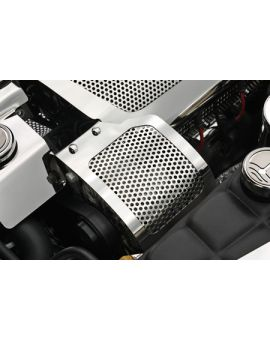 2005-2013 Corvette Perforated Stainless Alternator Cover