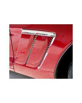 2010-2013 Corvette Grand Sport 6-pc Laser Mesh Side Fender Inserts
