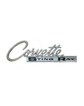 63-65 Corvette Sting Ray Metal Sign (Large)