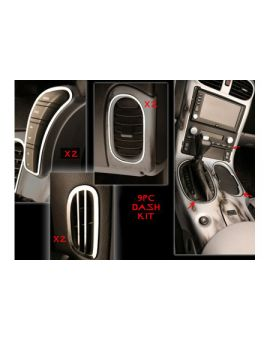 2005-2013 Corvette 9-pc Stainless Dash Trim Kit