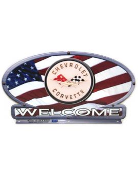 C1 Corvette American Flag Mailbox Topper