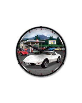 1976 Corvette Lighted Clock