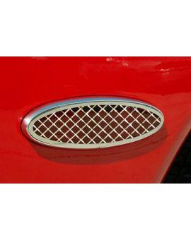 1997-2004 Corvette Stainless Laser Mesh Side Marker Bezels