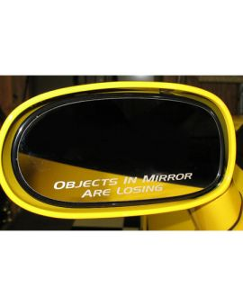 "1984-2013 Corvette ""Objects In Mirror Are Losing"" Mirror Decal (4"" Wide)"