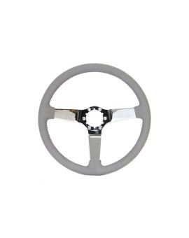68-82 Chrome 3-Spoke Leather Steering Wheel (Interior Color)
