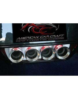 2014-2018 Corvette w/NPP Brushed Stainless Exhaust Filler Panel (Illuminated)