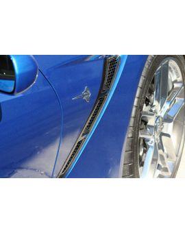 2014-2018 Corvette Stainless Mesh Side Fender Grille Inserts