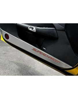 "05-13 Stainless Lower Door Guards w/Carbon ""Supercharged"" Inlay"