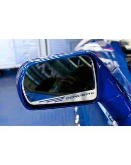 14-18 Stainless Side Mirror Trim w/Corvette Script