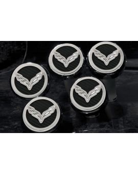 "14-18 w/Auto Engine Cap Covers w/ ""Cross Flags"" Emblem (5pc) (Accessory Color)"