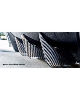 14-19 Stainless/Carb0n Rear Diffuser Fins (6pc)