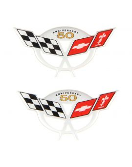 03 50th Anniversary Factory Sill Protector Domed Emblem