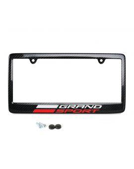 17-19 Carbon Fiber License Plate Frame w/Grand Sport Emblem